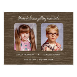 Rustic Old Photo Save The Date