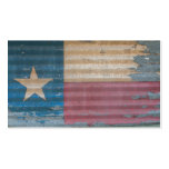 Rustic Old Texas Lone Star Flag cusomizable Double-Sided Standard Business Cards (Pack Of 100)