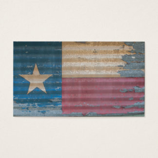 Rustic Old Texas Lone Star Flag cusomizable Business Card