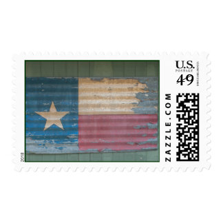 Rustic Old Texas Lone Star Flag cusomizable Postage