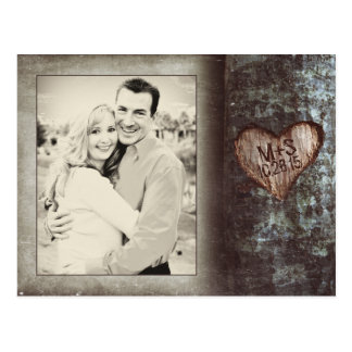 rustic old tree PHOTO save the date postcards