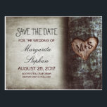 "rustic old tree save the date postcards<br><div class=""desc"">cute rustic country save the date postcards with old tree and carved love heart initials. For many more matching items,  please browse &quot;Carved Heart Tree Wedding Collection&quot; by Jinaiji</div>"