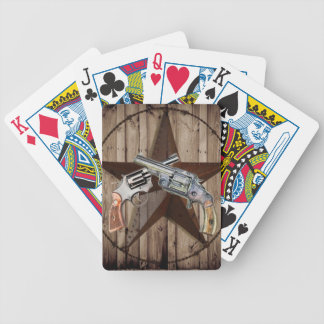 "rustic old western dual gun poste"" card decks"
