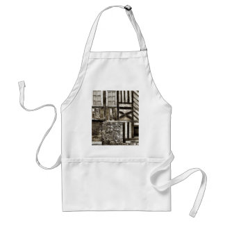 Rustic Old Wood and Stone Building Apron