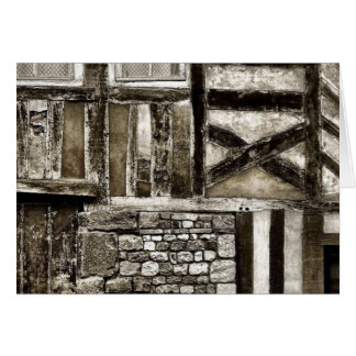 Rustic Old Wood and Stone Building Card