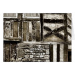 Rustic Old Wood and Stone Building Greeting Cards