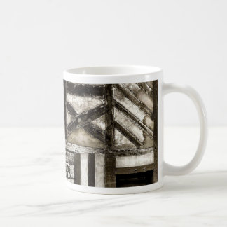 Rustic Old Wood and Stone Building Coffee Mugs