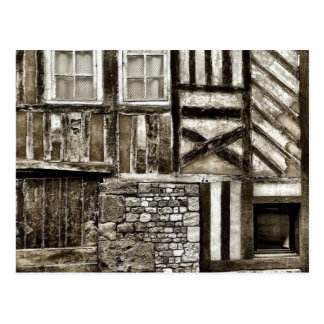 Rustic Old Wood and Stone Building Postcard