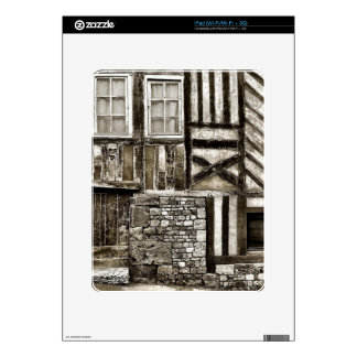 Rustic Old Wood and Stone House Skins For iPad