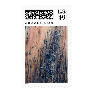 Rustic Old Wood Picture. Stamp