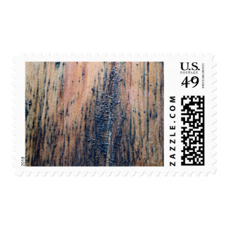 Rustic Old Wood Picture. Postage