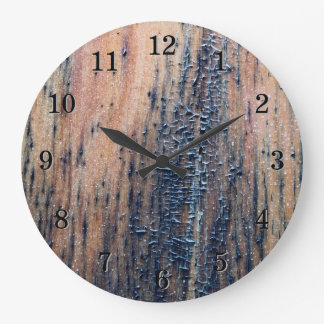 Rustic Old Wood Picture. Wallclock