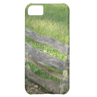 Rustic Old Wooden Fence Meadow Lichen Farm iPhone 5C Case