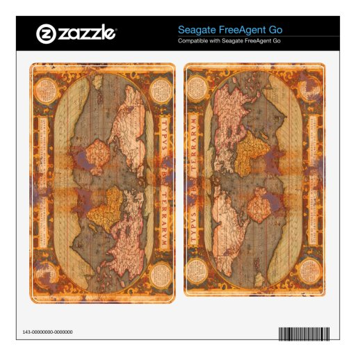Rustic Old World Map 2 Seagate Hard Drive Skin Skin For The FreeAgent Go