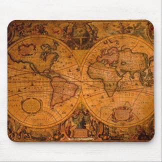 Rustic Old World Map Art Collection Mouse Pad