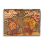 Rustic OLD WORLD MAP Greeting Card Envelope