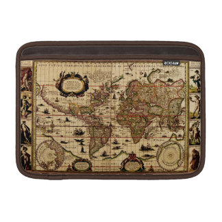 Rustic Old World Map Vintage Tablet Case Sleeve Sleeves For MacBook Air