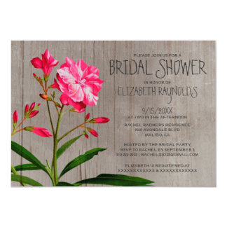 Rustic Oleander Bridal Shower Invitations