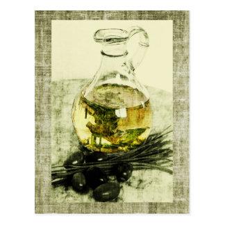rustic olive oil postcard