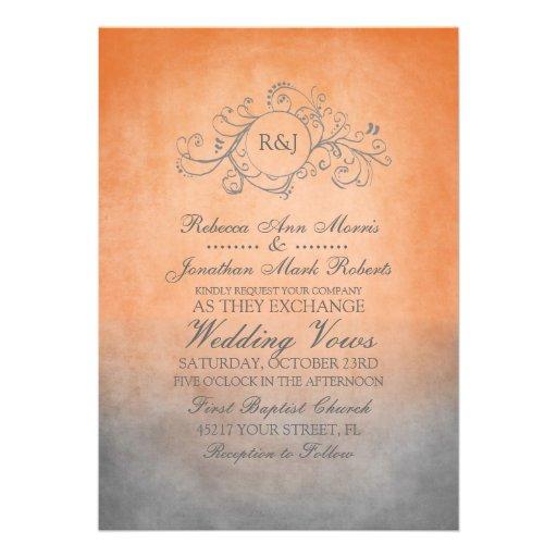 Orange And White Wedding Invitations was best invitation sample