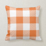 "Rustic Orange and White Buffalo Check Plaid Throw Pillow<br><div class=""desc"">Add a stylish touch to your home with a rustic orange and white buffalo check plaid patterned throw pillow. Create a unique,  personalized design by adding text,  images,  and more with the Customize It button.</div>"