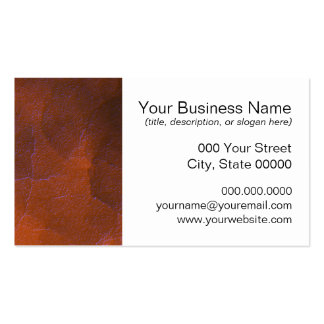 Rustic Orange Brown Blue Hightlights Abstract Art Business Card
