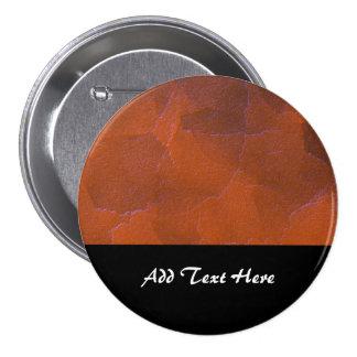 Rustic Orange Brown Blue Hightlights Abstract Art Button
