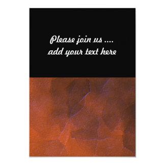 Rustic Orange Brown Blue Hightlights Abstract Art Card