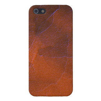 Rustic Orange Brown Blue Hightlights Abstract Art iPhone SE/5/5s Cover