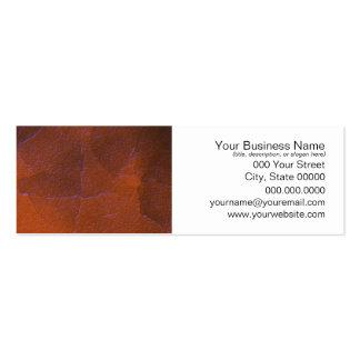 Rustic Orange Brown Blue Hightlights Abstract Art Mini Business Card