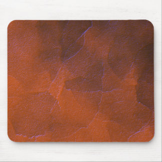 Rustic Orange Brown Blue Hightlights Abstract Art Mouse Pad