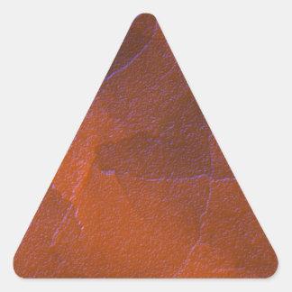 Rustic Orange Brown Blue Hightlights Abstract Art Triangle Sticker
