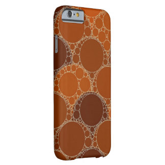 Rustic Orange Brown Circle Abstract Barely There iPhone 6 Case