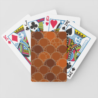 Rustic Orange Brown Circle Abstract Bicycle Playing Cards