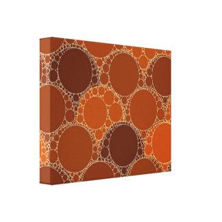 Rustic Orange Brown Circle Abstract Canvas Print
