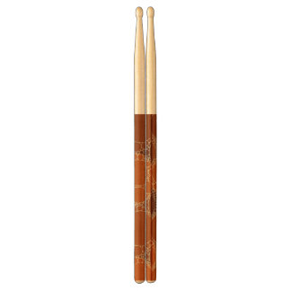 Rustic Orange Brown Circle Abstract Drumsticks