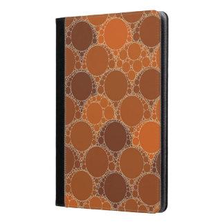 Rustic Orange Brown Circle Abstract iPad Air Case