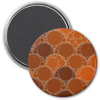 Rustic Orange Brown Circle Abstract Magnet