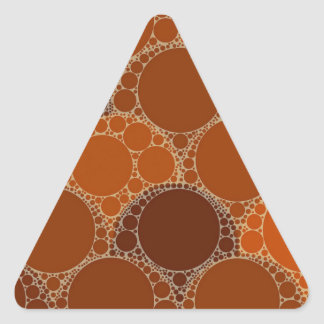 Rustic Orange Brown Circle Abstract Triangle Sticker