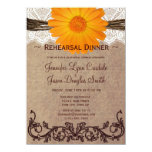 Rustic Orange Daisy Rehearsal Dinner Invitations Personalized Announcement