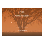 Rustic Orange Oak Tree Wedding Response Card Personalized Invite