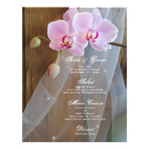 Rustic Orchid Elegance Barn Wedding Menu