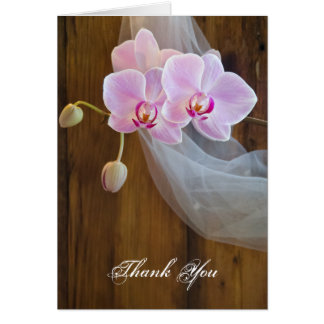 Rustic Orchid Elegance Country Wedding Thank You Card