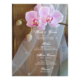 Rustic Orchid Elegance Wedding Menu