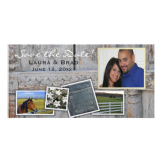 Rustic, outdoor, country - save the date card