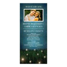 Rustic Outdoor Garden Firefly Wedding Programs Custom Rack Cards