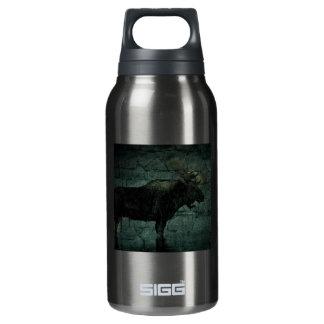 Rustic outdoorsman  wilderness wildlife bull moose insulated water bottle