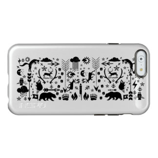 Rustic Owl Bear Deer Fox Woodland Creature Pattern Incipio Feather® Shine iPhone 6 Case