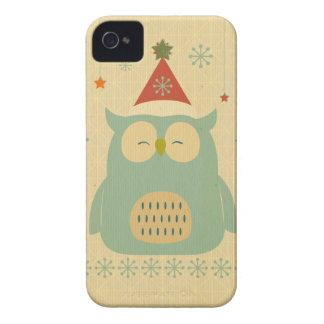 rustic owl,chrismas,pattern,trendy,cute,graphic, iPhone 4 Case-Mate cases