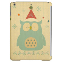 rustic owl,chrismas,pattern,trendy,cute,graphic,mo iPad air covers